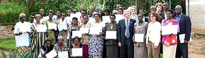 Business Training graduates, USAID, RAP - Gitarama, May 2006