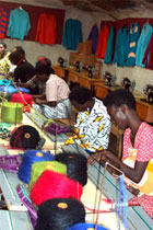 Women of Kiziba refugee camp undertake their first production project for re-sale to the USA